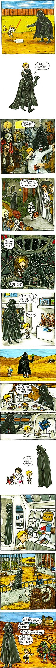 Star Wars — Revenge of the Jedi Toddler | What if Darth Vadar had been a good dad?