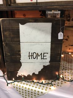 Custom Signs For Home Decor last name sign rustic home decor wedding established date family established sign personalized sign reclaimed wood custom sign Ready To Ship State Sign Indiana State Sign Indiana Sign State Decor State Wooden Sign Indiana Home Decor