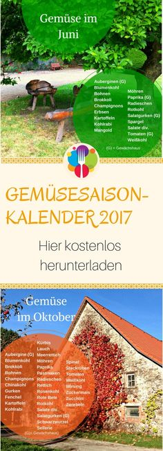 Gemüsesaisonkalender 2017 - Vegalife Rocks:  www.vegaliferocks.de✨ I Fleischlos glücklich, fit & Gesund✨ I Follow me for more vegan inspiration  @vegaliferocks