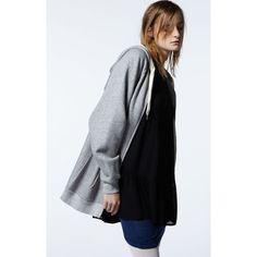 American Vintage | La Redoute - sweat géant ?? AMERICAN VINTAGE Veste mi-long ample manches longues capuche zippé  VESTE FEMME KIBBYSTATE 100€