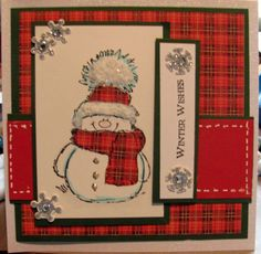Handmade greeting card featuring Penny Black stamp Snowy by StampingGEM, $4.75