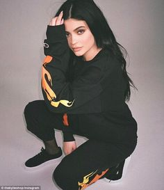 Plugging her stuff:Kylie Jenner has been modeling her new line of THICK! clothing on social media since the start of the month. And on Monday the 19-year-old Keeping Up With The Kardashians star was at it again