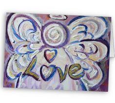Love Angel Art Greeting Card