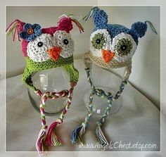 Darling crochet baby owly hats! love 'em!