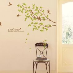 Birds on a Tree Wall Decals Stickers
