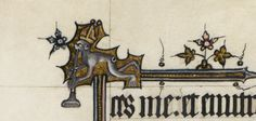 Detail of an ape wearing a bishop's mitre and playing a trumpet, from the Bohun Psalter, England (?London), after 1356 and probably before 1373, Egerton MS 3277, f. 22v  Indeed, Isidore of Seville, the expert on etymology in the Middle Ages, explained the derivation of simius (ape) from similitudo, remarking that 'the monkey wants to imitate everything he sees done'.