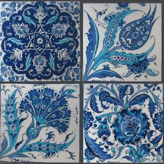 Turkish Art and Design part of the larger tradition of the Islamic ceramic art. [Floral (hatayi) designs]