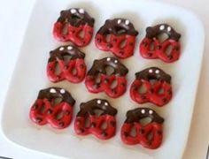 Chocolate Covered Ladybug Pretzels.