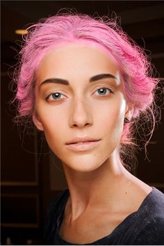 Thakoon S/S 2012 Runway Beauty look - love the cotton candy hair.