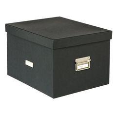"MEMENTO STORAGE // Letter/Legal Stockholm File Box // 16-3/4"" x 13-3/4"" x 10-5/8"" h // #34.99 // via The Container Store"