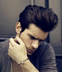 Fifties inspired, men's hairstyle