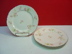 Homer Laughlin China MAPLE LEAF Two Salad Plates