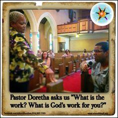 "Pastor Doretha asks us ""What is the work? What is God's work for you?"" #wordsoffaith #sundaysermon #achurchforallsac #achurchforall #mcc #mccsac #pastordorethasays"