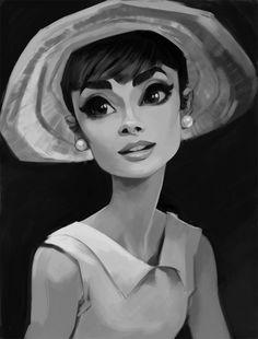 Audrey Hepburn by Daemion Elias George-Cox