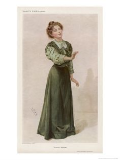 Christabel Pankhurst (in a full-color page from Vanity Fair)