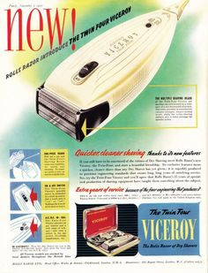 electric razor advertisement with shaved kiwi