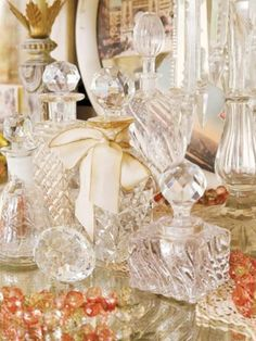 Crystal perfume bottles *  Vintage Enjoyables