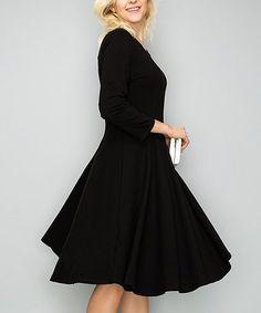 Love this Black A-Line Dress on #zulily! #zulilyfinds