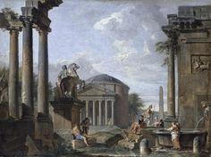 Landscape With Roman Ruins: Artist Giovanni Paolo Panini