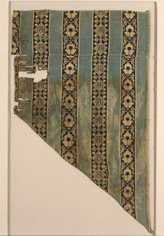 Textile Fragment Egypt, Mamluk Dynasty, 1250–1517, 14th-15th century Textiles; fragments Silk double-cloth and plain weave 19 1/4 x 11 1/2 in. (48.89 x 29.21 cm) The Madina Collection of Islamic Art, gift of Camilla Chandler Frost (M.2002.1.693)