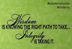 #doterra #integrity #oils4everyone