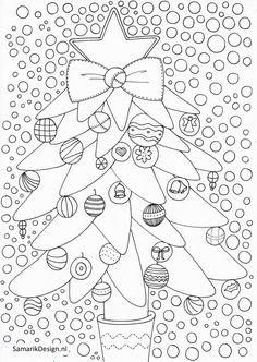 Kleurplaat voor volwassenen. Christmas