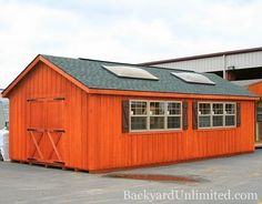 Backyard Unlimited provides a variety of outdoor structures in Northern California. Check out Image in our Garages & Large Storage gallery! Outdoor Buildings, Outdoor Structures, Cedar Stain, Ridge Vent, Board And Batten Siding, Simple Shed, Backyard Retreat, Shed Storage, Shed Plans