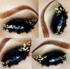 sexy black and gold eyes