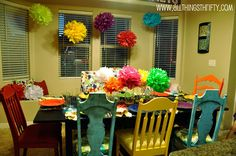 All Things Thrifty: Make your own tissue paper balls - Super easy!!