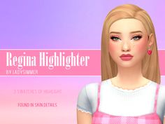 Hey my lil squirrels, here is a new highlight for your sims! It comes with a snoot dot and a little light on the cupids bow! Base Game Compatible 3 swatches Found in skin details Do not claim as your. Nose Highlight, Sims 4 Tattoos, Hair Clay, Pelo Sims, Sims 4 Gameplay, Sims 4 Cc Makeup, Maxis, Sims 4 Mm Cc, News Highlights