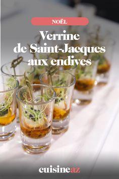 Pour l'apéritifces verrinesde Saint-Jacques aux endivespeuventêtreinscrites sur votremenudu réveillon de Noël. #recette#cuisine #verrine#saintjacques#endive #endive#apero#aperitif#noel#fete#findannee#fetesdefindannee