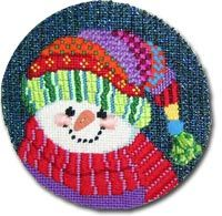 Patchwork Snowman - Old World Designs Snowmen 2009