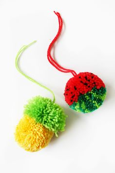 How to Make Tutti Frutti Pom-Poms - Tuts+ Crafts & DIY Tutorial
