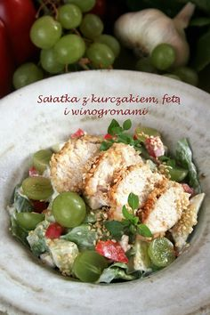 Sałatka z kurczakiem, fetą i winogronami | sio-smutki! Monika od kuchni