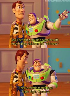 Toy Story 2 Woody and Buzz #disney #toystory #funny