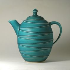 This fantastic teapot was made by potter Cecilia Boivie, from my home town Uppsala. Don't you just WANT it?