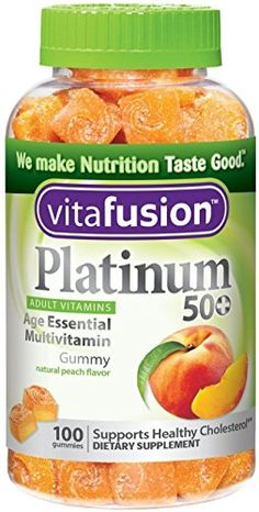 Vitafusion Platinum 50 Multivitamin Gummy Peach 100 ea Pack of 3 >>> Continue to the product at the image link.