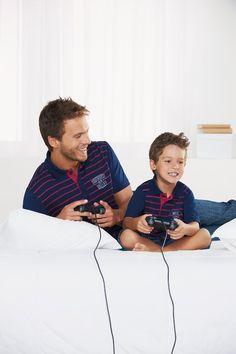 Peças iguais para pais e filhos Via: www.usefashion.com