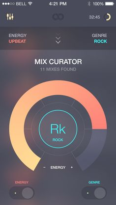 Interface   Opacities, gradients, thin lines, flat design