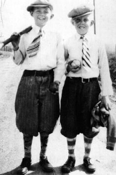 """After-school baseball game, c. 1925. """"This is our Uncle Matt circa 1925 in Hannibal, Missouri. After school baseball game. Uncle Matt is the one with the shiner."""""""