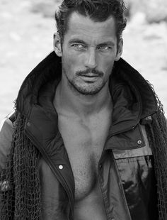 Supermodel David Gandy by Lawrence Sparkes