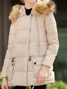 ericdress равнине рыхлый карман на молнии пальто Пальто