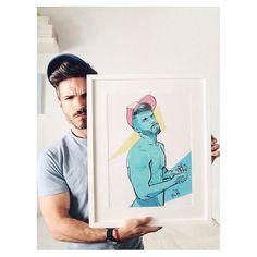 #Regram from @jorllan - .- Yay!! I ' ve finally framed it! Ilust By 'the one of the kind' Super @egorod Gracias  #egorodriguez #illustration #art #igers