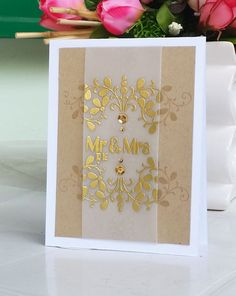 Elegant Wedding Card Clearly Besotted Stamp Set