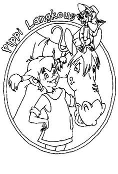 coloring page Pippi Longstocking - Pippi Longstocking