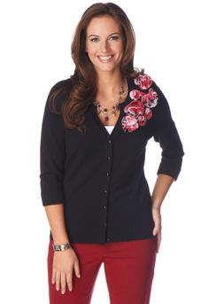 Pattern Applique Cardigan - Christopher & Banks thought of you Judy!