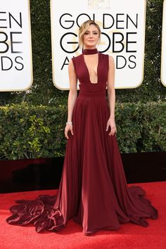 Christine Evangelista at 74th annual golden globe awards in Beverly Hills | I love her dress...