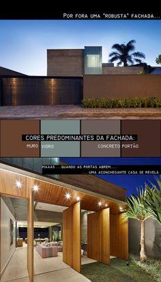Arquitetura.idEA: PROJETO DE ARQUITETURA - CASA SEM TELHADO (sem telhado aparente)