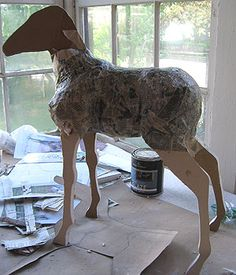 thinking about doing some larger papier mache animal sculptures