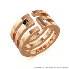 "Men's Ring in Rose Gold - ""Path To Knowledge"""